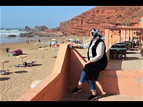 من بين أجمل الشواطئ في العالم شاطئ الكزيرة سيدي افني المغرب