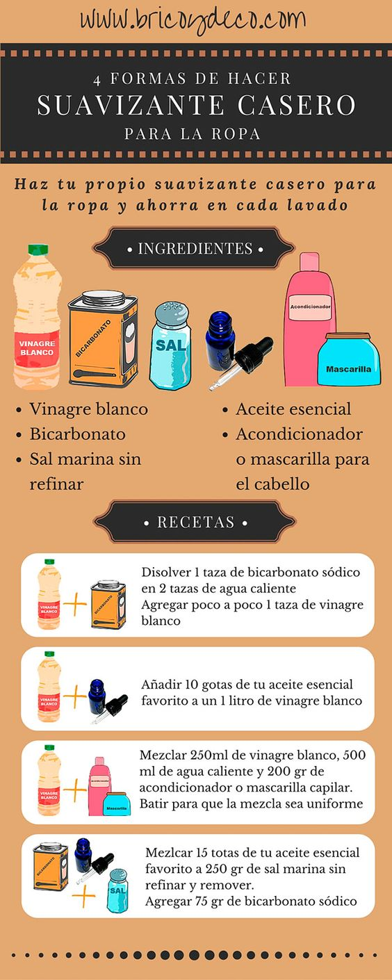 4 formas de hacer suavizante casero para la ropa en www.bricoydeco.com