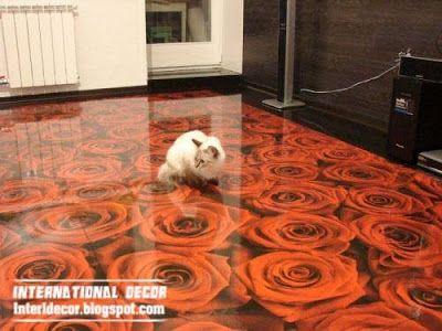 Unusual Flooring Ideas 3d floor murals and 3d self leveling floor, unusual floor covering