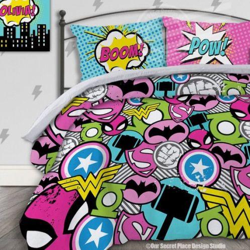 Girl Superhero Bedding For Girls Bedding Twin Girls Superhero