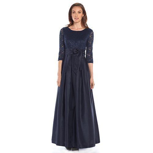 Jessica Howard Lace Pleated Evening Gown - Women&39s  Modest Prom ...