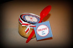 Simply Creative Insanity: Pie in a Jar with Free Patriotic Tags...Yes, Please!