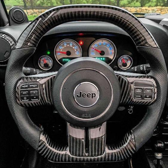2011 2018 Jeep Wrangler Jk Jku Elite Black Carbon Fiber Steering