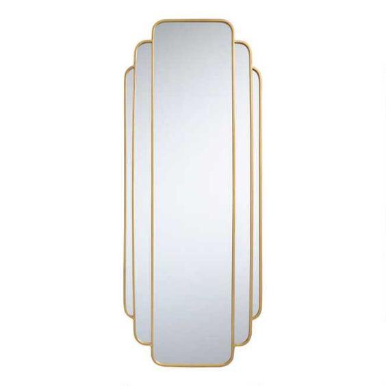 Gold Art Deco Full Length Mirror World Market Art Deco Spiegel Deko Interieur Art Deco Möbel