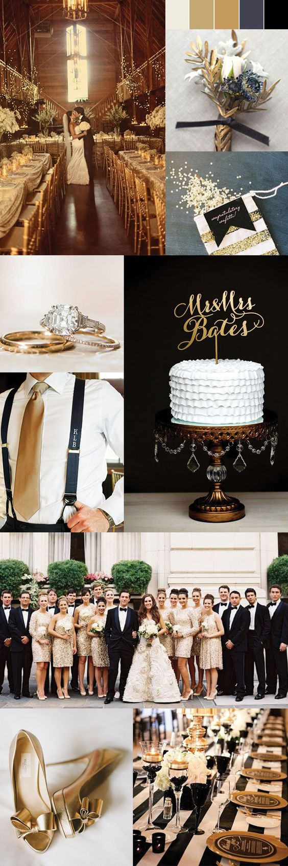 Gold Themed Wedding Ideas  - Gold Color Palette