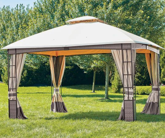 Wilson Fisher Lakewood Soft Top Domed Gazebo 10 X 12 Big Lots In 2020 Gazebo Gazebo Big Lots Backyard