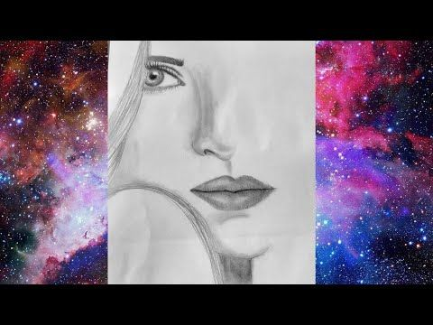 تعليم الرسم بالرصاص رسم وجه فتاة How To Draw A Girl Face Pencil Sketch Face Drawing Youtube Pencil Sketches Of Faces Face Drawing Pencil Sketch