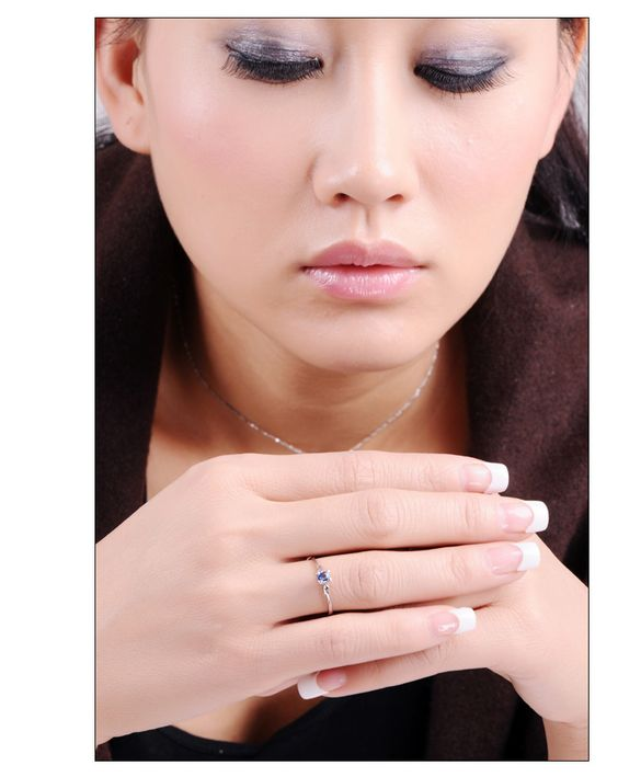 9月の誕生石 ブルーサファイア リング(指輪) リッチな上品セレブ気分 jewel-link9-021WSS
