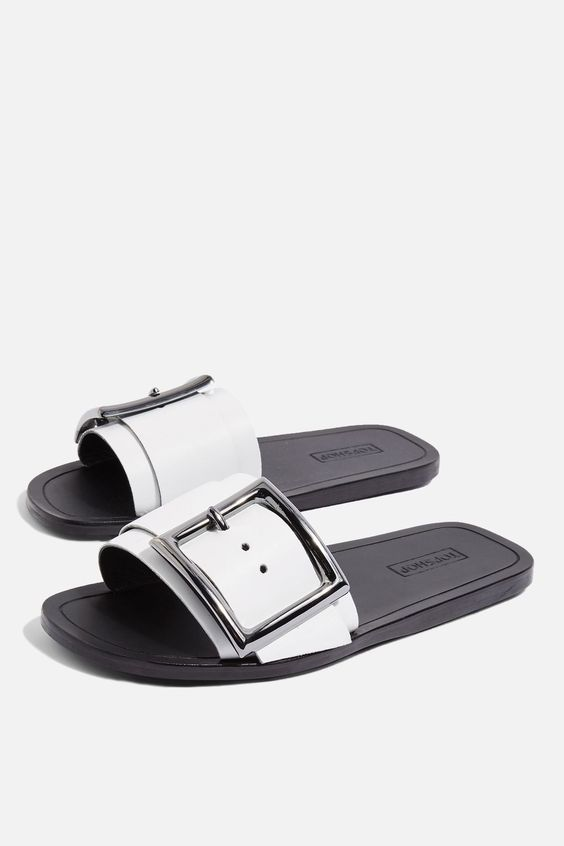 Buckle Detail Sliders - Topshop