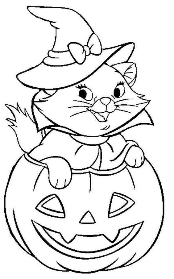 Disney Halloween Coloring Sheet For Kids Picture 33