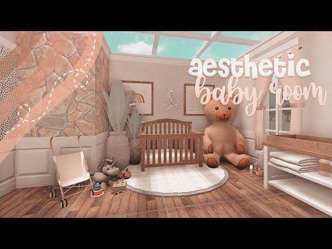 Aesthetic Bloxburg Nursery Speedbuild Fairyglows Youtube Nursery Room Design Baby Room Decals Baby Room Themes