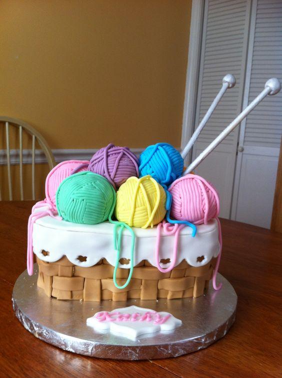knitting cake.