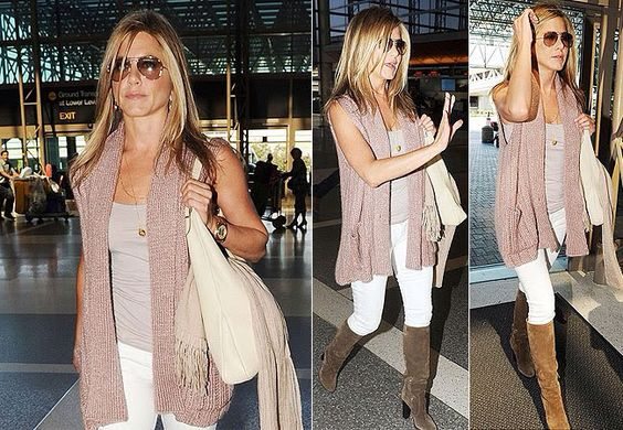 Bota overknees marrom com calça branca | Looks femininos / Womans ...