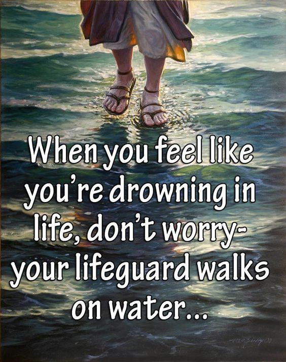 Walking on water: God S, Quotes Inspirations Sayings, Awesome God, Gods, Water Jesus, Thank You Jesus, Faith Quotes, God Won T