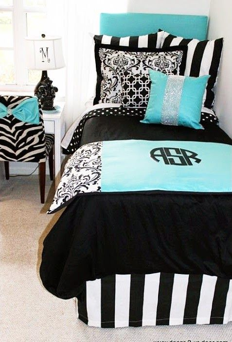 Super Cute! I Really Like The Bow On The Zebra Chair And The Monogram On  The Bed Spread! | Home Sweet Home | Pinterest | Zebra Chair, Monograms And  Dorm Part 83