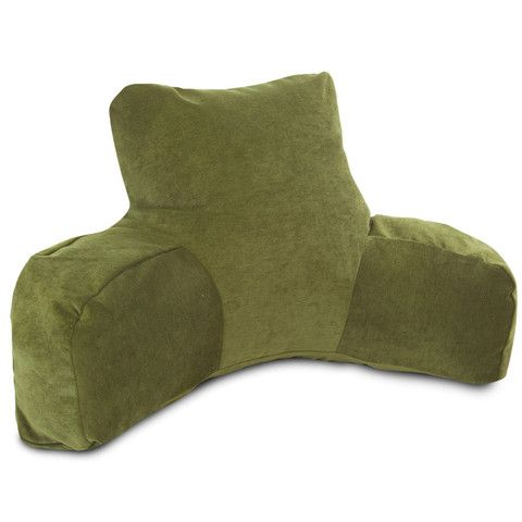 Reading Pillow with Moss Green micro velvet exterior.  Incredibly soft and comfortable.  High quality made in the U.S.A. and built to last.  Reading Pillows can be used for all sorts of activities, not just reading! #velvet #green #pillows http://www.readingpillowsplus.com/products/reading-pillow-moss-micro-velvet