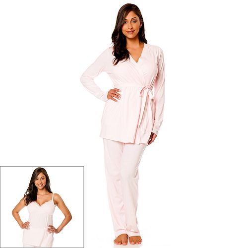Oh Baby by Motherhood™ 3-Pc. Nursing Pajama Set - Maternity ...