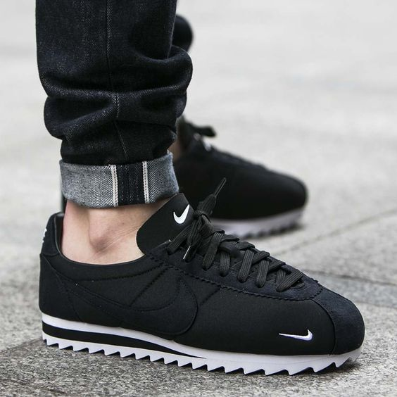 2016 Latest Selling Nike Cortez Womens High Tops Shoes Black
