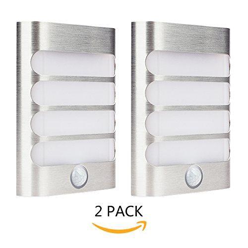 2 Pack Leadleds Luxury Aluminum Stick Anywhere Bright Mot Https Www Amazon Com Dp B0722v82v Led Wall Sconce Motion Sensor Closet Light Battery Wall Lights