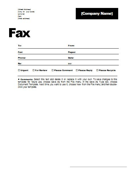 Fax Cover Sheet Resume Template - http://www.resumecareer.info/fax ...