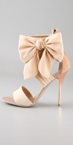 Giuseppe Zanotti Chiffon Bow High Heel Sandals | SHOPBOP