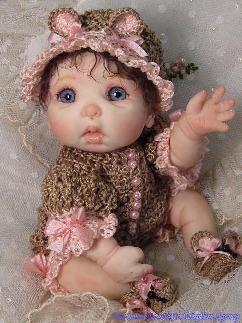 OOAK Clay Baby Dolls | OOAK Polymer Clay Art Doll Baby by Mommakappie | eBay