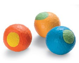 Bean bags made from balloons.