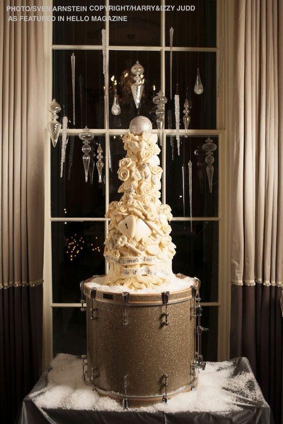 Tom fletcher giovanna falcone wedding cakes