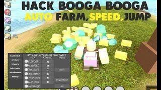 Roblox Booga Booga Hack Auto Farm Click Teleport Jump With
