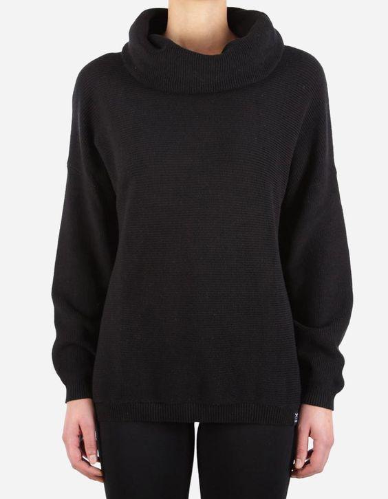 iriedaily - Mock Turtle Knit black
