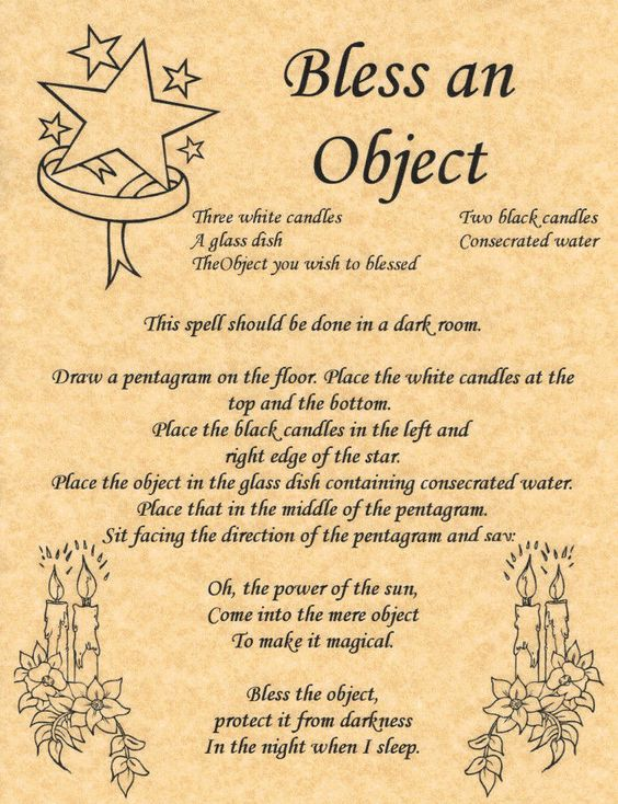 Bless an Object, Book of Shadows Page, BOS Pages, Witchcraft Spell, Wicca Poster picclick.com: