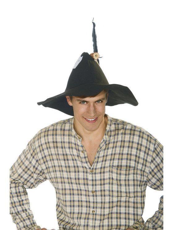 Roaring 20S Gangster Black White Hat Permafelt Fedora Costume Accessory Medium