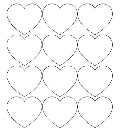 Free Printable Heart Templates Large Medium Small Stencils