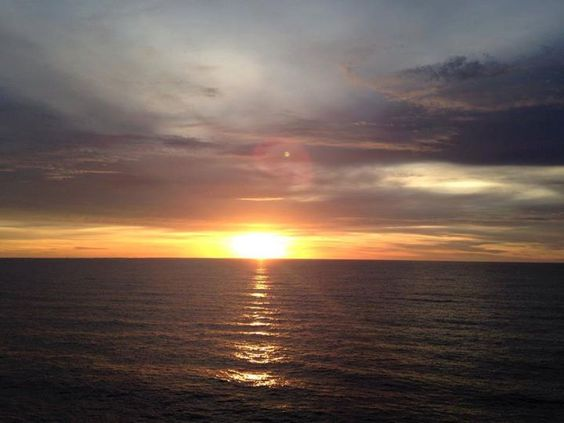 Sunset over the Atlantic Ocean - Last Mom