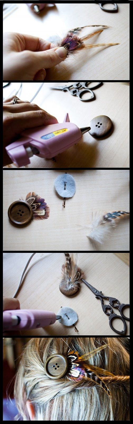 DIY hair pin: