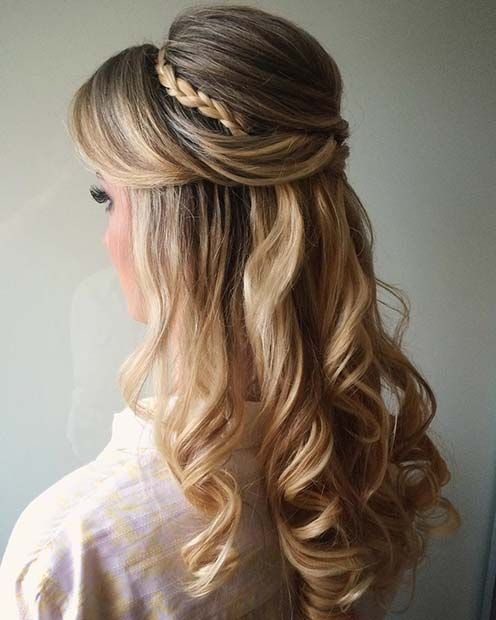 60 Stunning Prom Hairstyles Pageant Planet Find The Best Hairstyles For Thick Or Thin Hair Pageant Prom H Hair Styles Wedding Hair Down Short Hair Styles