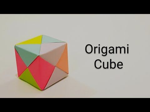 How to Fold an DIY : Origami 3D Cube - YouTube | 360x480