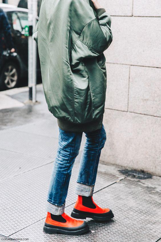 Milan_Fashion_Week_Fall_16-MFW-Street_Style-Collage_Vintage-Maxi_Bomber-Bandana-Celine_Rainy_Boots-