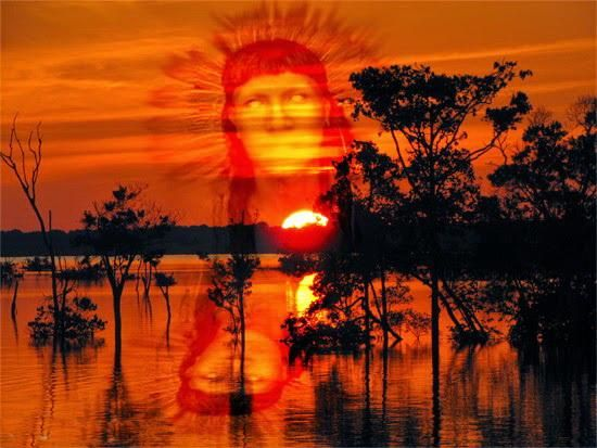 Guaraci é a representação do Sol, responsável pela luz, vida e pureza do planeta.