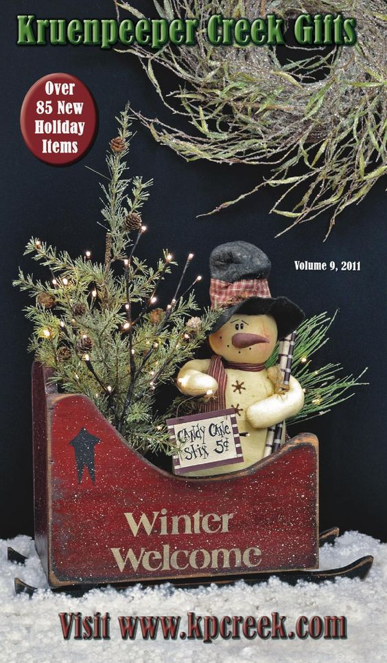 KP Creek Volume 9-2011 KP Creek Gifts your online store for primitive home decor. Thanksgiving; Christmas; candles; angels; ornaments; country art; snowmen; calendars & more will add a warm country glow to your home!