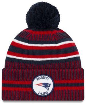 Navy Knit PatriotsRed Sox