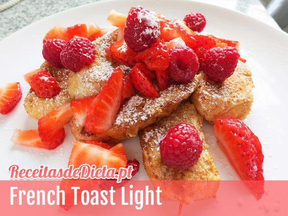 Receita de French Toast Light #receita #dieta #light #fitness