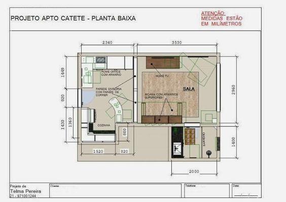 Ambientes & Ideias: Um Apartamento Conjugado... Amor à primeira vista!
