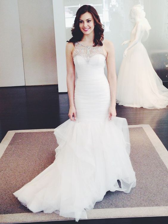 Miss USA Erin Brady stopped by our Madison Avenue salon to try on gowns. Doesn't she look beautiful?