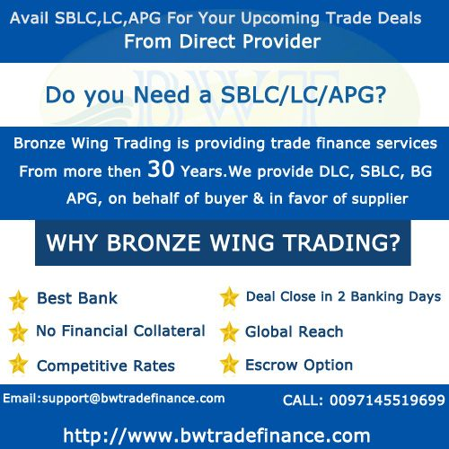 We Can Provide Sblc Lc Bg Apg To Conclude Your Trade Deal We Are The Provider Of Standby Letter Of Credit Sblc To The Trader The Trade Finance Finance Trading
