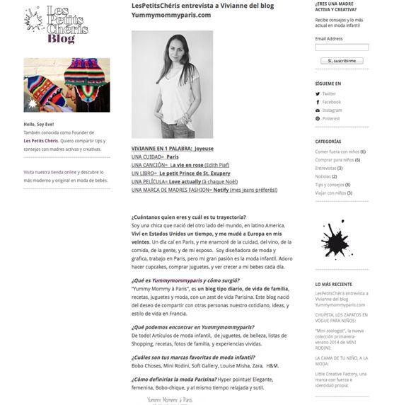 Yummymommypari.com Entrevistada por LesPetitsChéris.com