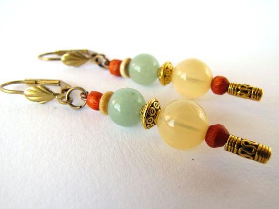 Ethnic Earrings Eco Earrings Wooden earrings by MyEthnicJewelry, $5.00
