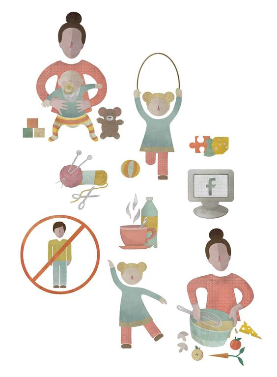 Icons • Women, Girls, Graphic, Cooking, Games, Facebook, Baby, Illustration, Jana Walczyk