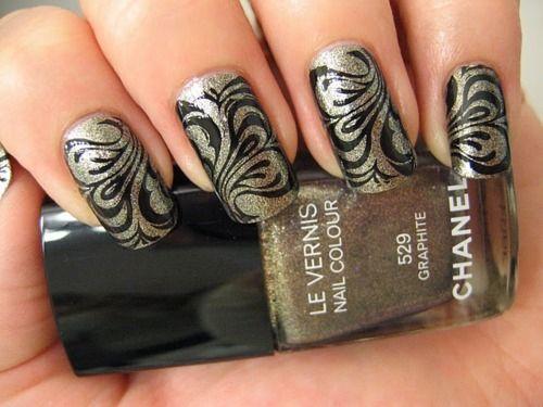 silver black swirl