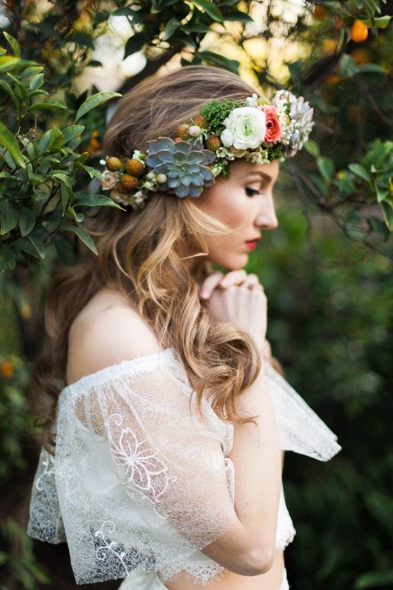 Bohemian 2-piece – Wedding Lace Bridal Dress